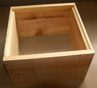 Assembled Hive Box Ready for Top Bars