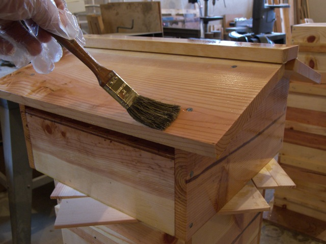 Painting Bee Hives With Linseed Oil
