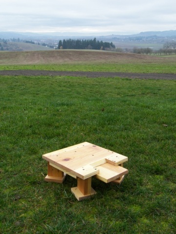 The Warre Hive Floor on the Ground