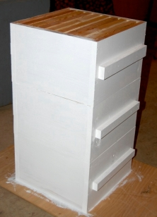 Painted Warre Hive Boxes